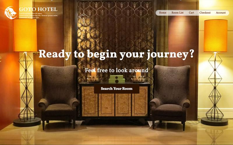 ホテル・宿泊施設 WordPressサンプルサイト-Topページ画像