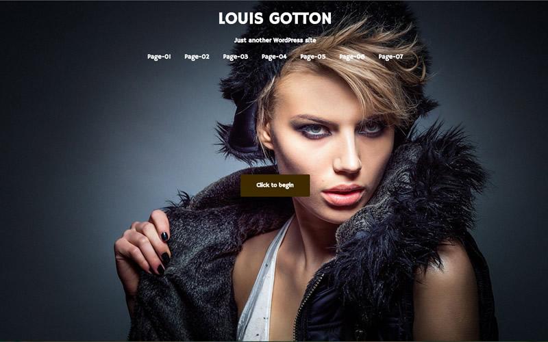 ファッションブランド WordPressサンプルサイト フロントページ画像