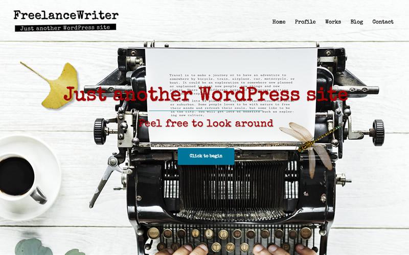 フリーランス・ライター・ブロガー WordPressサンプルサイト-TOPページ画像