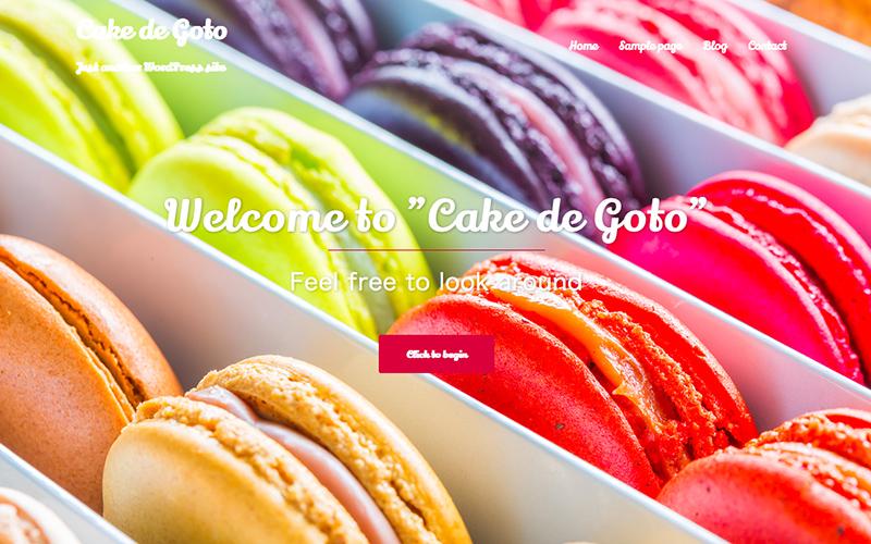 洋菓子店 WordPressサンプルサイト フロントページ画像
