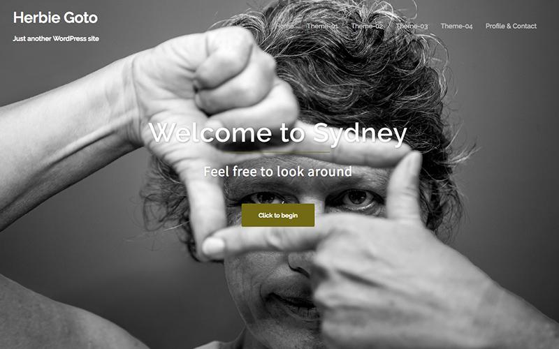 写真家 WordPressサンプルサイト フロントページ画像