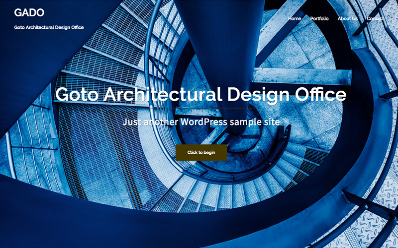 建築設計事務所 WordPressサンプルサイト フロントページ画像