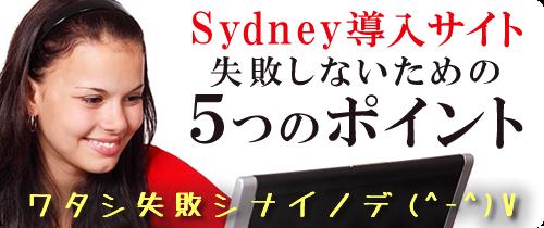 Sydney導入サイト 失敗しないための5つのポイント